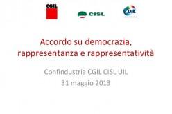 Firmato l'accordo su rappresentanza e rappresentatività